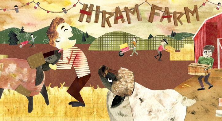 Angelia's illustration of Hiram Farm