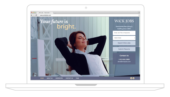 WickJobs web design