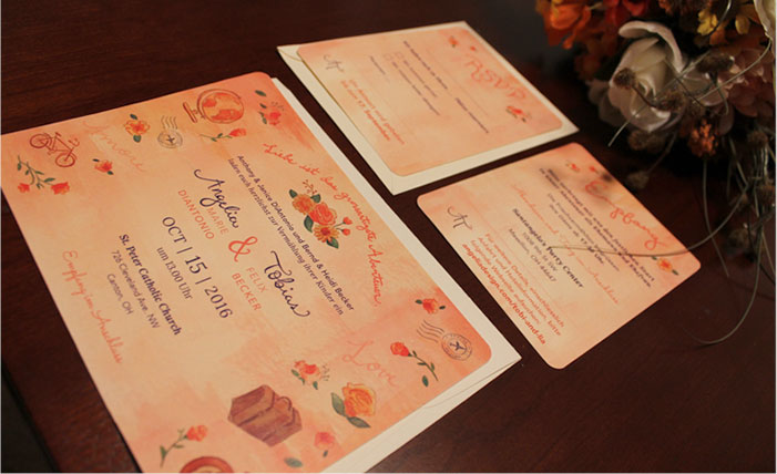 Angelia's wedding Invitation