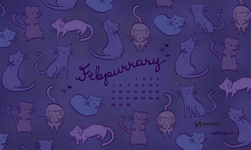 February Calendar by Angelia DiAntonio