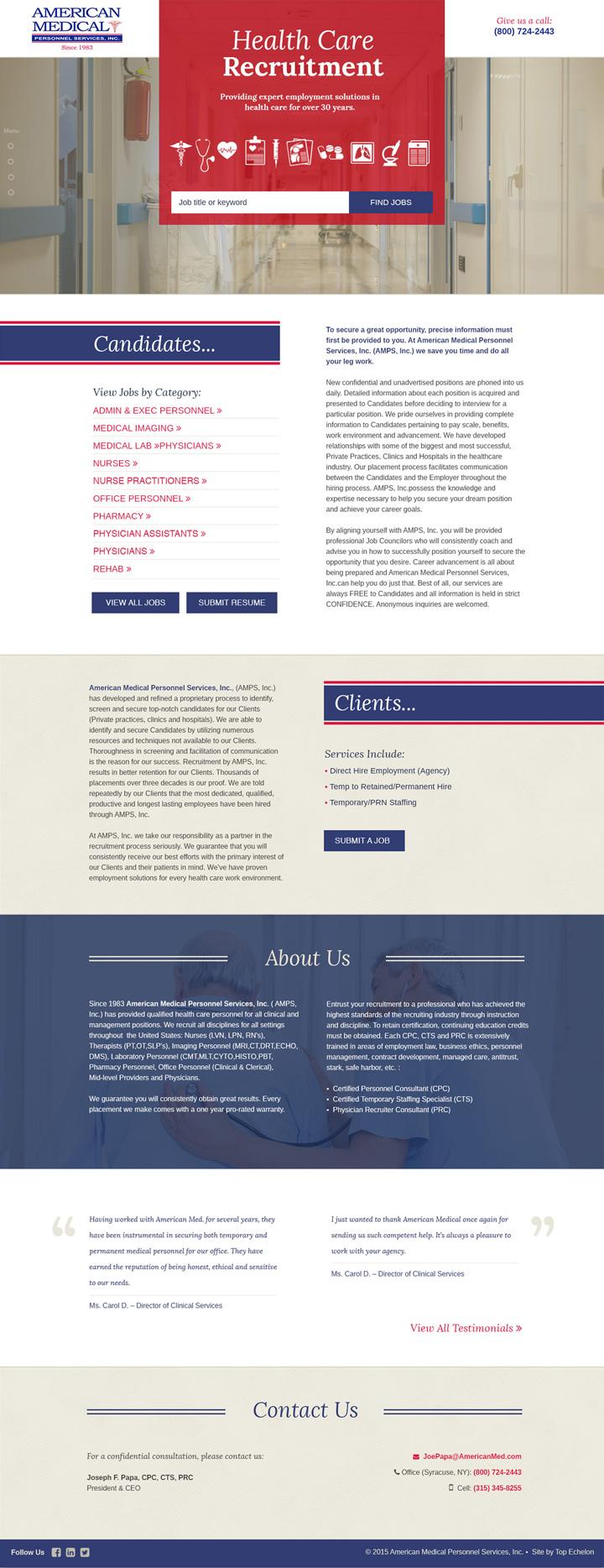 American Med site design