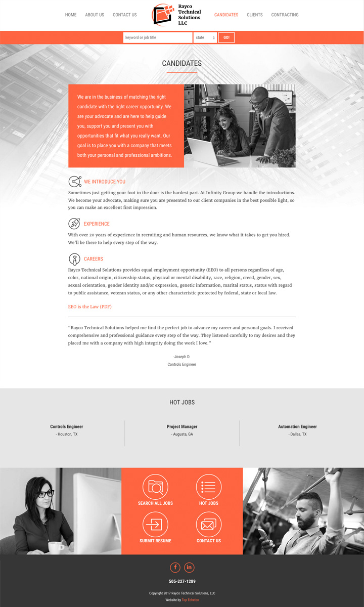 Rayco Tech site design