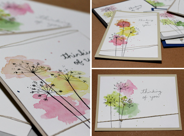 Cards Angelia Becker made to donate to a local hospice.